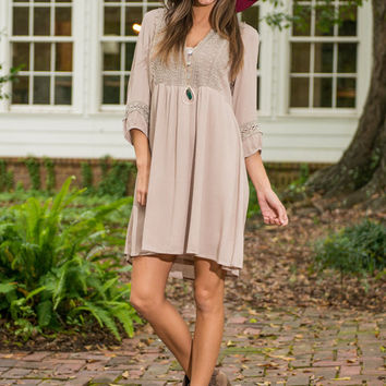 Cold Weather Cocoa Dress, Taupe