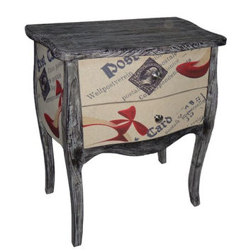 Cheungs Carte Postale 2 Drawer Tall Chest