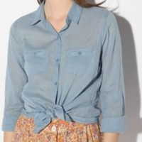 BDG Classic Solid Breezy Button-Down Shirt