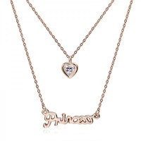 Bella Princess Love Layered Necklace