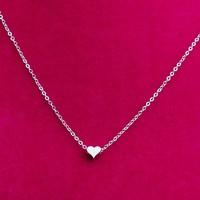 Shiny Jewelry Gift New Arrival 925 Silver Korean Stylish Heart Pendant Accessory Strong Character Fashion Necklace [8080528071]