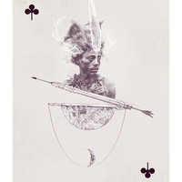 Jack of Clubs Art Print by Anna Pietrzak | Society6