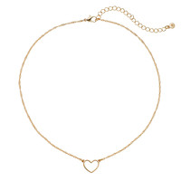 LC Lauren Conrad Heart Necklace