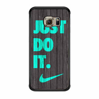 Nike Just Do It Wood Colored Darkwood Wooden Fdl Samsung Galaxy S6 Edge Case