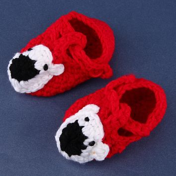 Baby Shoes Handmade Crochet Infants Knit Toddler Shoes For Baby Girls Boy Newborn 0-12 Months Baby Girl Shoes Infant Gift