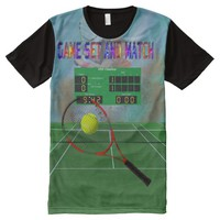 Tennis All-Over Printed T-Shirt All-Over Print T-shirt