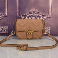 Gucci Women Leather Shoulder Bag Satchel Crossbody