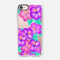 Watercolor Hibiscus iPhone 7 Case by Lisa Argyropoulos | Casetify