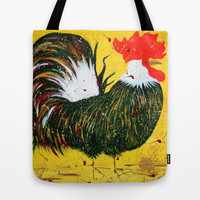 """doodle doo"" rooster Tote Bag by Jennifer Pennacchio"