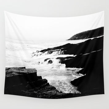 Bar Harbor Ocean View Wall Tapestry by PoseManikin