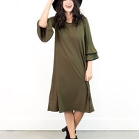 Becky Tiered Sleeve Swing Dress