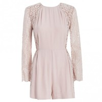 Crepe Lace Panel Playsuit - Clothing - Ready To Wear