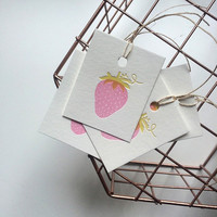 Strawberry Gift Tag