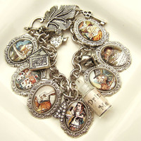 Alice in Wonderland Charm Bracelet Alice in Wonderland Bracelet Alice Bracelet Alice in Wonderland Jewelry