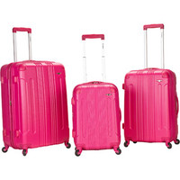 Walmart: Rockland Luggage 3-Piece ABS Hard-Sided Spinning Luggage Set