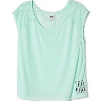 Lace-back Raglan Tee - PINK - Victoria's Secret