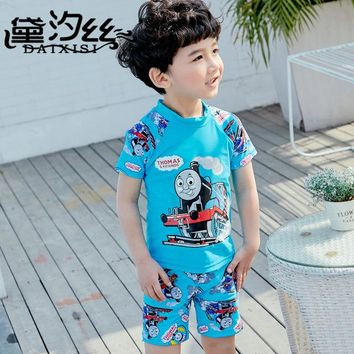 Baby Swimsuit Kid Kids Bathing Suit Child Swimwear Clothes 2018 Children New Cute Boy Zhongtong Drying Hipsters Lycra Animal