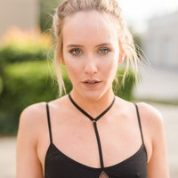 Strappy Y Bralette With Lace Keyhole