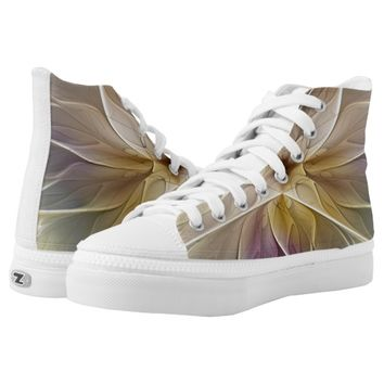 Floral Fantasy Pattern Abstract Fractal Art Printed Shoes
