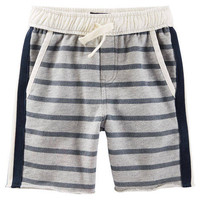 Striped French Terry Shorts