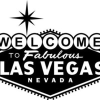 20 inch wide Welcome to Las Vegas decal for wall in black, white or silver only for the DIY crafters.