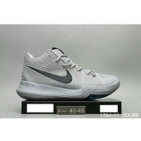 NIKE ID Kyrie 3 Owen 3 generation fashion shoes F-HAOXIE-ADXJ Gray