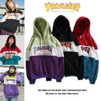 Patchwork Hats Couple Hoodies [1016606261284]