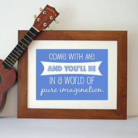 Pure Imagination Song Lyric Print