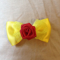 Disneys Belle from beauty and the beast inspired mini bow