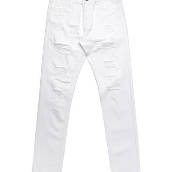 Embellish - California Ripped Standard Denim (White)