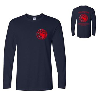 winter is coming tops t shirts long sleeve hipster 2017 fire and blood t shirt men casual brand crossfit hip hop funny t-shirt