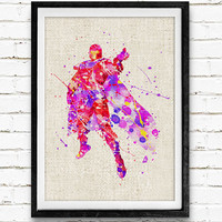X-Men Magneto Watercolor Poster Print, Superhero Watercolor Print, Boys Room Wall Art, Home Decor, Not Framed, Buy 2 Get 1 Free!