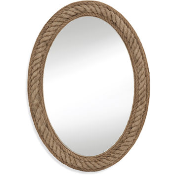 "Bassett Mirror Rope Wall Mirror Jute Rope 30"" x 41"" - M3646EC"