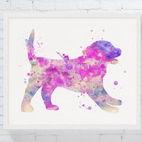Puppy Dog Print, Puppy Wall Decor, Puppy Dog Watercolor, Puppy Party, Nursery Wall Decor, Girls Room Decor, Puppy Gifts, Dog Lover Gift