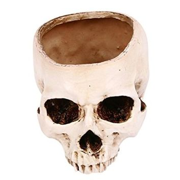 Oksale® Halloween Party Supplies Prop Skull Ornaments Decorations Simulation Flower Pots Dry Soot Ashtray