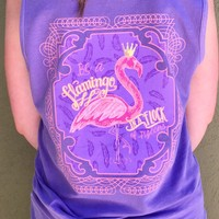Be A Flamingo Tank - Purple