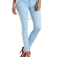 "Refuge ""Hi-Waist Super Skinny"" Colored Jeans - Baby Blue"
