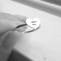 Marriage Equality Ring, Sterling Silver Ring, Heart Ring, Stacking Ring, LGBT Ring, LGBT Jewelry, Marriage Ring, Gay Pride Ring,Gay Marriage