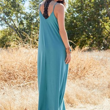 Perfection Pocket Maxi Dress - Dusty Teal