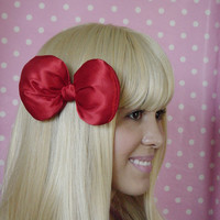 Big Bow Red Bow Clip Poofy Hair Clip Cosplay Big hair Bow Cute Lolita Kawaii Boutique bow Style women bow teens bow girls bow