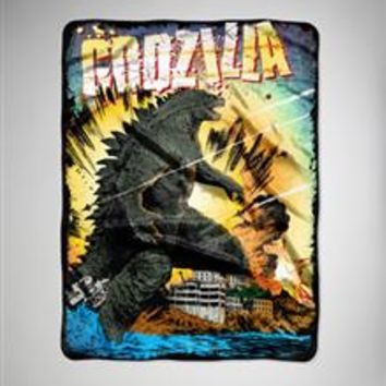 Godzilla Destroyed Fleece Blanket