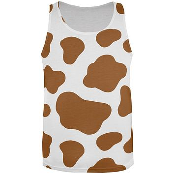 Halloween Costume Brown Spot Cow All Over Mens Tank Top