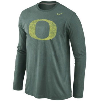 Oregon Ducks Nike Tri-Blend Long Sleeve T-Shirt – Green