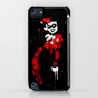 Harley Quinn splatter www.justin13art.com iPhone & iPod Case by Justin 13 Art