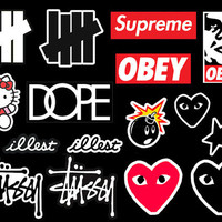 16 Hypebeast Supreme Box Logo Stussy OBEY CDG Illest Undefeated Bape Vinyl Gloss Stickers