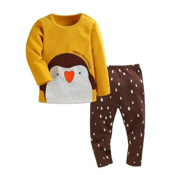 Clothing Set For Children Boys Girls Cute Little Penguin 2016 Spring Autumn Cotton Jumpsuits Infant Baby Long Sleeve Clothes