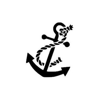 Nautical Anchor Vinyl Car Decal