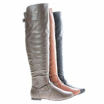 Tiara44 By Bamboo, Over Knee High Slouchy Equestrian Riding Boots w/ Faux Fur Lining