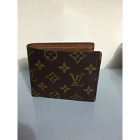 Tagre™ LOUIS VUITTON NEW MAN'S FOLD WALLET LEATHER BAGS