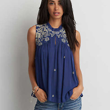 AEO Hi-Neck Swing Tank , Navy